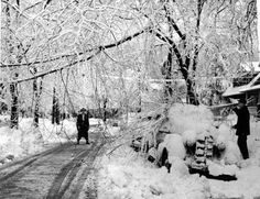 Edanola Avenue, 1954. Snow storms are nothing new for Lakewood. Lakewood Ohio, Snow Storms, Cleveland Rocks, Cityscapes, Childhood, United States, Spaces, Winter, Classic