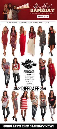 ShopRiffraff's BIGGEST collection to date! The Ultimate Throwback Tailgate Gameday Apparel Collection!