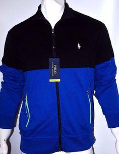 Polo Ralph Lauren pieced interlock track jacket size medium 100% cotton  NEW #PoloRalphLauren #trackjacket