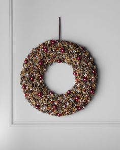"""Bordeaux"" Wreath at Horchow."