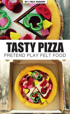 This handmade pretend play food product would make a great gift idea for a preschooler. By I Felt Hungry, available on ETSY (affiliatelink) Felt Pizza, Cultural Crafts, Felt Food, Play Food, Fun Crafts For Kids, Paper Toys, Diy Doll, Pretend Play, Handmade Shop