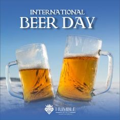This International Beer🍺Day! Raise your glass to celebrate the tasty brew. International Beer Day, Cheers, Brewing, Celebration, Tasty, Mugs, Glass, Drinkware, Tumblers