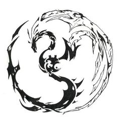 Tribal Circle Dragon Tattoo Designs ~ http://tattooeve.com/tribal-dragon-tattoo-designs/ Tattoo Design