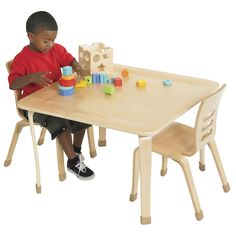"ECR4Kids 30"" Square Bentwood Play Table & Reviews 