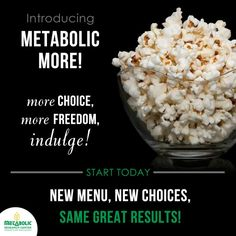 Introducing Metabolic More. New choices,  more flexibilty, new recipes and so much more! Weight loss never tasted so great:) #mrcmeals