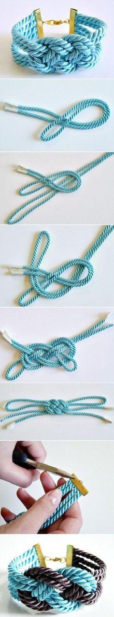 Easy way to make weaving bracelet