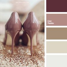 If you are planning a wedding, this color palette will be just perfect. Pastel shades of lilac and brown create an unusual combination, adding charm to any.