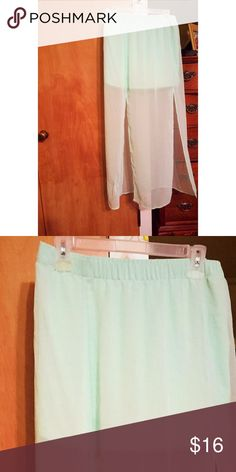Express ❤️on SaLe ❤️ Adorable aqua colored skirt. Express size small slits in front Express Skirts Maxi