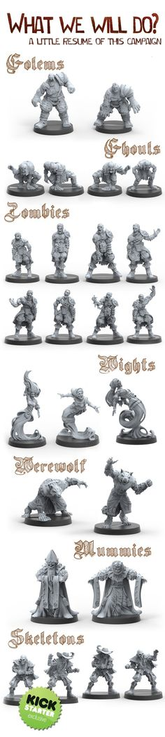 Un-deads, Necromancy and Renaissance: the perfect mix for your next Fantasy Football team. High quality and details in metal cast.