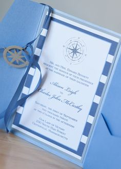 Compass Wedding Invitation with paper by Dulcepress on Etsy