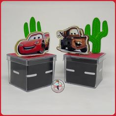 New Cars Birthday Party Ideas Tow Mater Ideas Cars Birthday Parties, 4th Birthday, Mechanic Tool Box, Just Married Car, Tow Mater, Disney Cars, Hot Wheels, Party Time, Party Favors