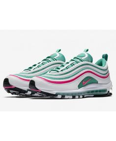 designer fashion bd15c c7754 Women s Nike Air Max 97 White Pink Blast Kinetic Green Black Trainer Nike  Air Max Sale