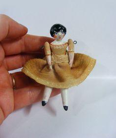 Folk Art Miniature Vintage Style Doll