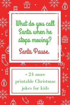 25 Printable Christmas Jokes for Kids - Kinder Weihnachten Christmas Quotes For Kids, Funny Christmas Games, Christmas Jokes, Christmas Messages, Christmas Holidays, Christmas Ideas, Christmas Crafts, Xmas Jokes, Holiday Games