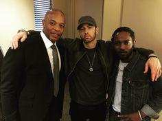 Em, Dre and Kendrick. June 22, 2017. Love Marshalls new beard.