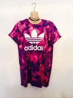 Complete one off acid wash adidas tshirt One size will fit 8/10/12 ( m) Great for festivals / holidays Urban swag streetstyle Please note