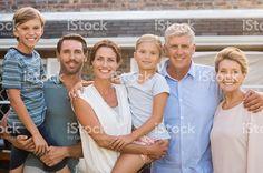 Multi generation family outdoor royalty-free stock photo