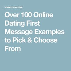 How to write a good profile on a dating site examples