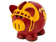 USC Trojans Thematic Piggy Bank NCAA