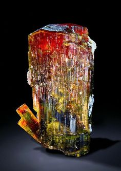 Fluor-liddicoatite [or just Liddocoatite] is a rare member of the tourmaline group of minerals, elbaite subgroup, and the theoretical calcium end-member of the elbaite-fluor-liddicoatite series.
