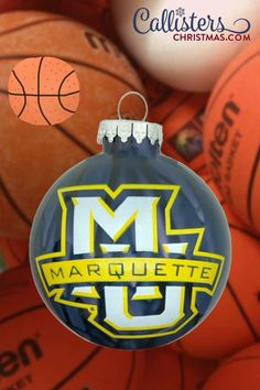 Marquette University, University College, Old World Christmas Ornaments, Christmas Bulbs, College Activities, Marquette Golden Eagles, Graduation Ornament, College Graduation Gifts, Personalized Christmas Ornaments