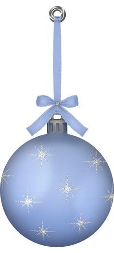 CHRISTMAS BLUE ORNAMENT CLIP ART