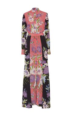 06aec76e809f7 Floral Floor Length Shirt Dress by DIANE VON FURSTENBERG. Just so good.  Maxi Shirts
