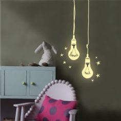 Mimi'lou wall sticker for kids phosphorescent sticker bulbs