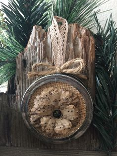 Mason jar lid ornament by BBAHomemade on Etsy https://www.etsy.com/listing/252035953/mason-jar-lid-ornament