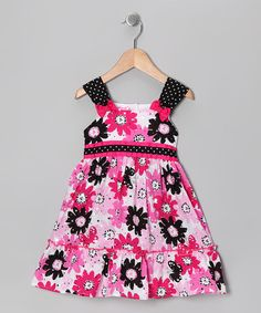 Take a look at this Pink Flower Dress - Infant, Toddler & Girls by Young Hearts on #zulily today!