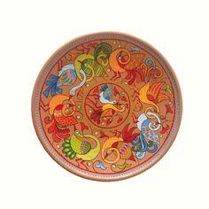 Decorative Plate Birds Ceramic Plate Armenian by Essenziale