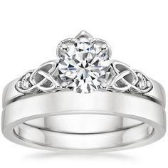 Diamond Claddagh Engagement Wedding Ring Set I always dreamed