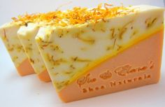 Beautiful Cold Process Soap Designs | Sunshine Calendula Cold Process Soap by siaelena on Etsy, $4.00