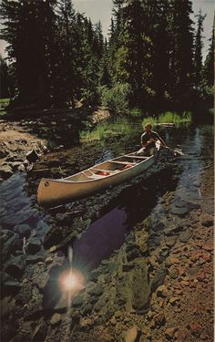 canoeing on a clear river. Idk if this is Yosemite National Park, but that's exactly what it looks like...it's amazing.