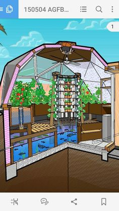 Aquaponics System place over a shipping container pool with a grate as floor then second container on top as a greenhouse BreakThrough Organic Gardening Secret Grows You. Aquaponics System, Aquaponics Greenhouse, Aquaponics Diy, Hydroponic Gardening, Container Gardening, Organic Gardening, Greenhouse Ideas, Geodesic Dome Greenhouse, Indoor Hydroponics