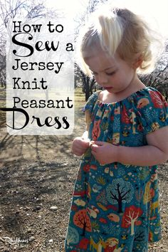 How to Sew a Jersey Knit Peasant Dress || Rhythms of Play