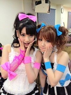 Sayumi Michishige and Reina Tanaka of Morning Musume #JPOP #MorningMusume