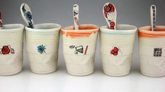 Funny paper cups for tea and coffee HD wallpaper| Misc, Stuff Wallpapers