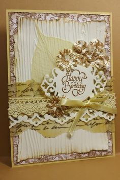 Simones Karten-Ecke: Geburtstagskarte / Birthday Card Shabby Chic