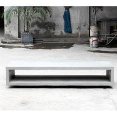 Concrete Monobloc TV Bench With Metal Legs - Lyon Beton - Do Shop