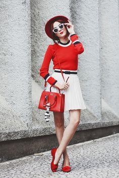 A inspiração para o look de hoje vem toda dessa blusa. Sim 39829ce52ff