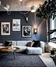 Inspiring Living Room by - Architecture and Home Decor - Bedroom - Bathroom - Kitchen And Living Room Interior Design Decorating Ideas - Living Room Grey, Living Room Interior, Home Living Room, Living Room Designs, Living Room Decor, Living Room Ideas Black And White, Living Room Inspiration, Cool Living Room Ideas, House Design