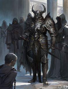 My favorite creepy fantasy art Fantasy Warrior, Fantasy Races, High Fantasy, Dark Fantasy Art, Medieval Fantasy, Fantasy Artwork, Fantasy World, Dungeons And Dragons Characters, Fantasy Characters