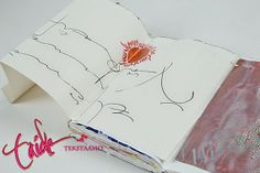 Art Journaling - creating extra pages  Kirjantuunausta- lisäsin kirjaan jatkopaloja