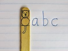 "Introducing ""Clever Cat."" A simple classroom trick for kids learning to write in the lines."
