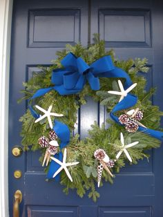 coastal christmas wreath. Spend Christmas at the beach with Surfside Realty!