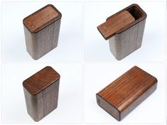 Custom Walnut Cigarillos Case, Small Cigar Case, CNC hollowed body with Sliding Opener, Magnet Clasp, Personalized Engraving Art Diy Arts And Crafts, Wood Crafts, Woodworking Jewellery Box, Woodworking Projects, Built In Wall Units, Wooden Box Designs, Corrugated Carton, Vintage Cigarette Case, Lighter Case