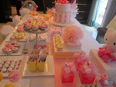Hello Kitty Birthday Dessert Table
