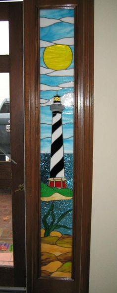 J&M Stained Glass, North Myrtle Beach, SC- Lighthouse sidelight