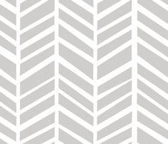 Herringbone Medium Light Grey by @friztin @Spoonflower - Fabrics / Wallpaper / Gift wrap #FriztinFabrics #modern